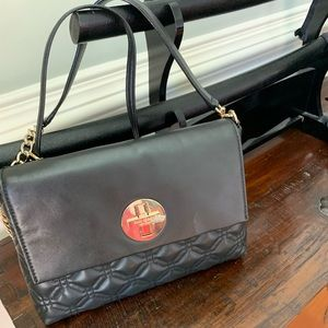 EUC Authentic Kate Spade Black quilted purse